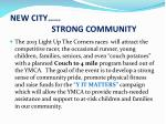 new city strong community