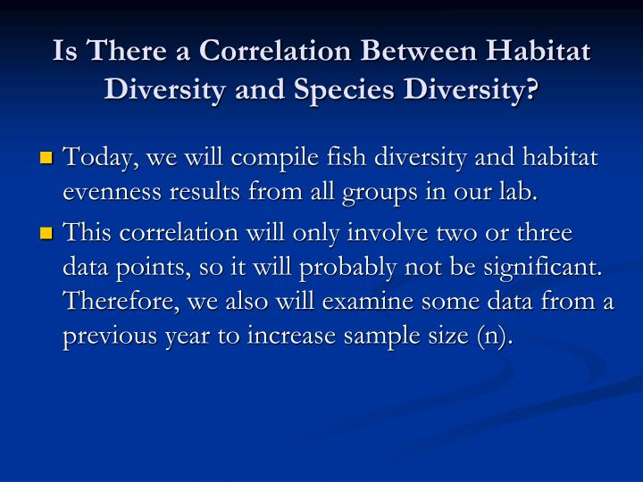 Is There a Correlation Between Habitat Diversity and Species Diversity?