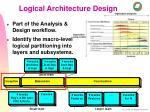 logical architecture design