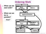 ordering work