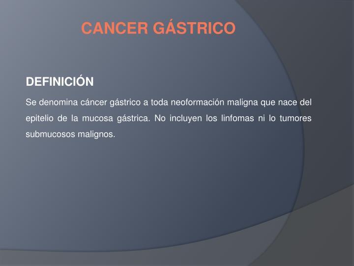 CANCER GÁSTRICO
