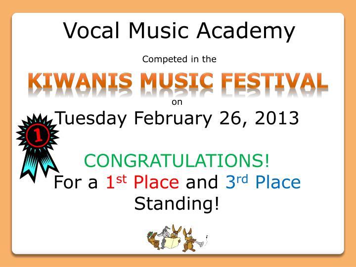 Vocal Music Academy
