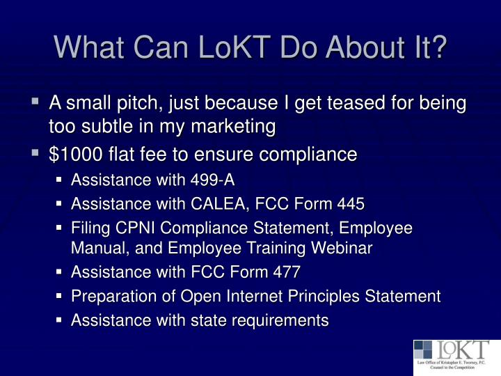 What Can LoKT Do About It?
