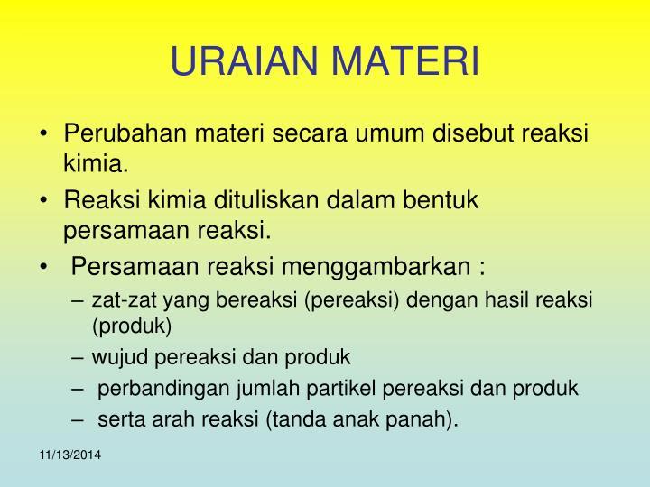 URAIAN MATERI