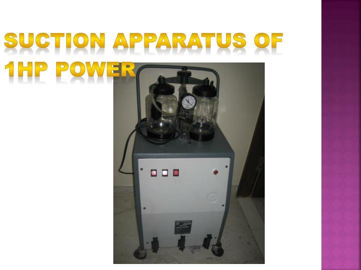 Suction apparatus of