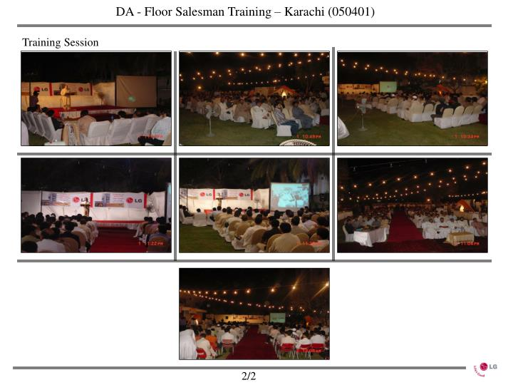 DA - Floor Salesman Training – Karachi (050401)