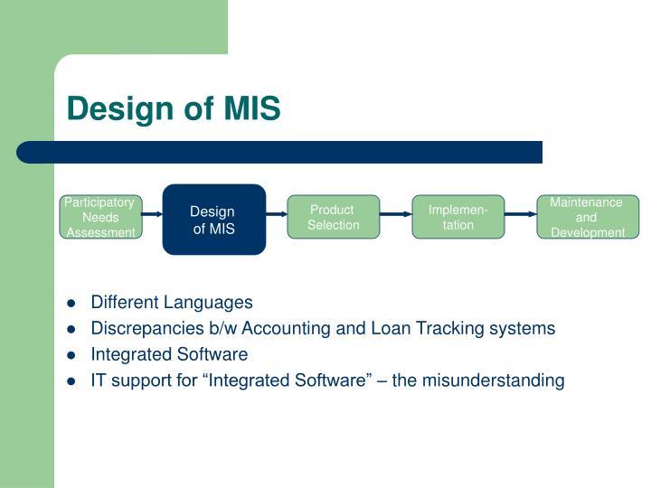 Design of MIS