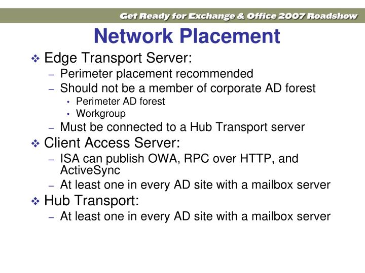 Network Placement