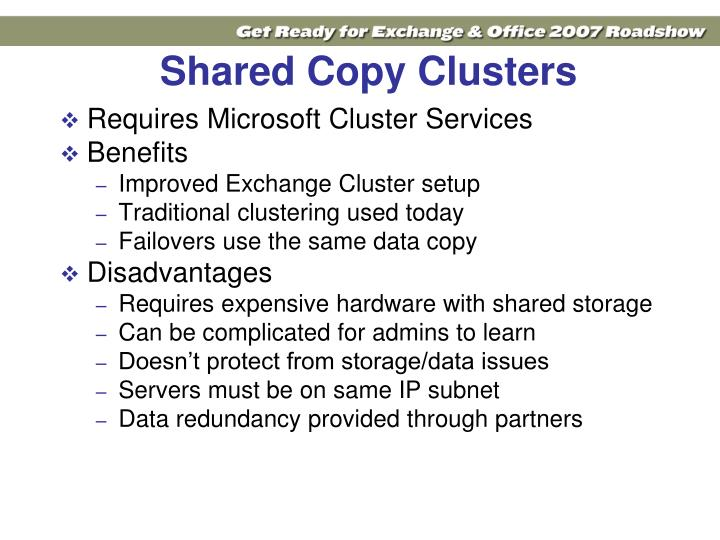 Shared Copy Clusters