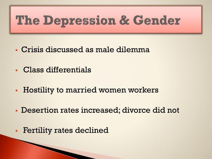 The Depression & Gender