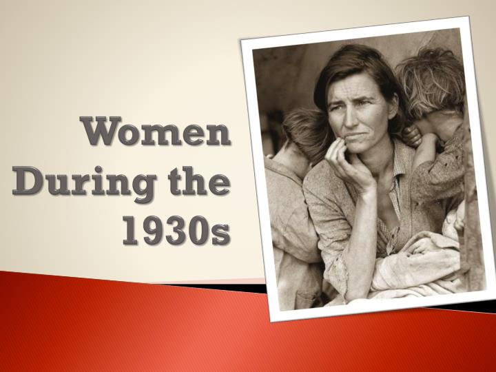 Women during the 1930s