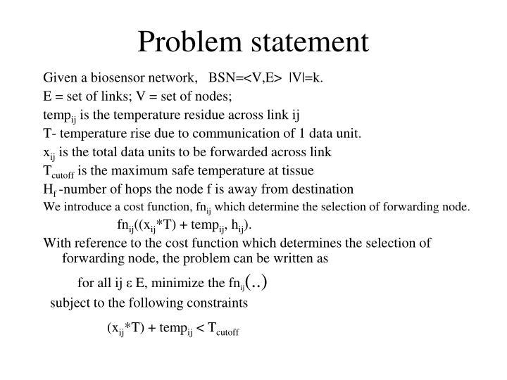 Problem statement
