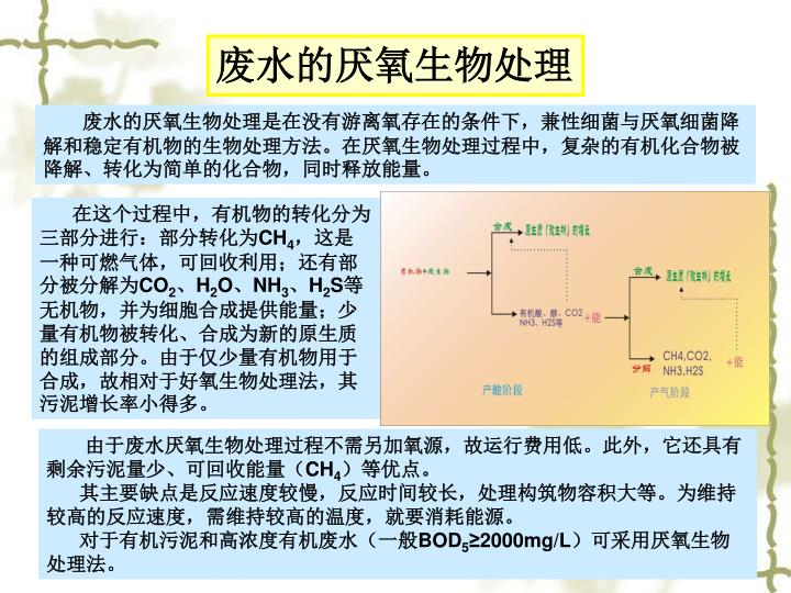 废水的厌氧生物处理