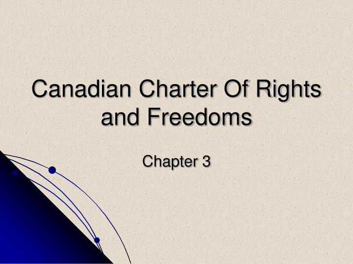 canadian charter of rights and freedoms n.