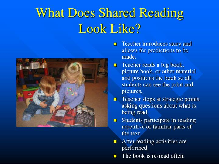 What Does Shared Reading