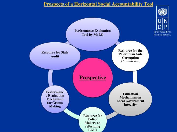 Prospects of a Horizontal Social Accountability Tool