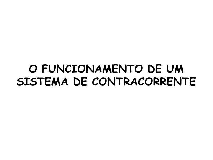 O FUNCIONAMENTO DE UM SISTEMA DE CONTRACORRENTE