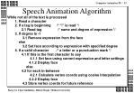 speech animation algorithm
