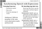 synchronizing speech with expressions