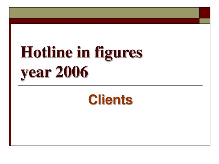 Hotline in figures