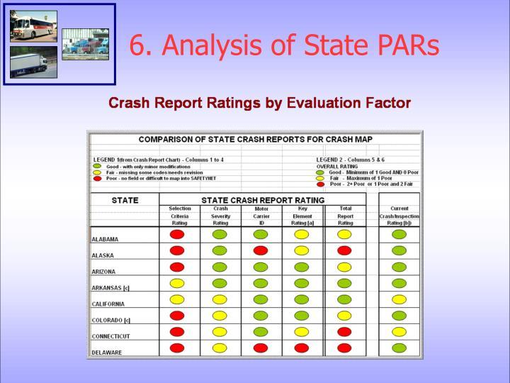 6. Analysis of State PARs