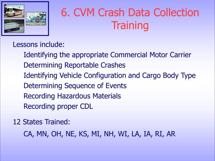 6. CVM Crash Data Collection Training