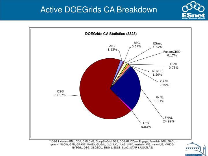 Active DOEGrids CA Breakdown