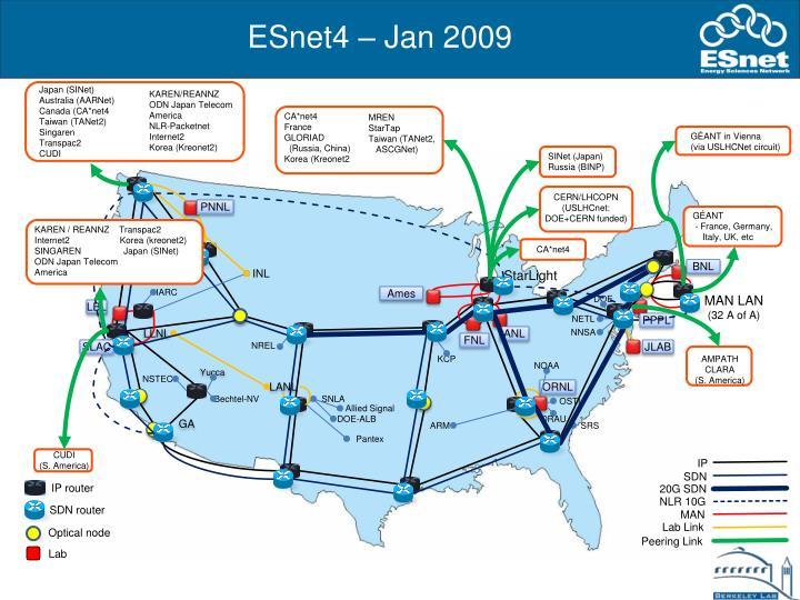 Esnet4 jan 2009