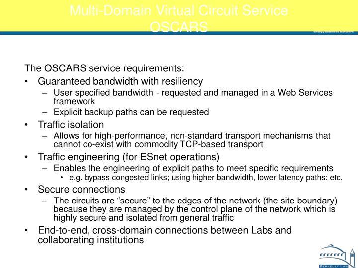 Multi-Domain Virtual Circuit Service