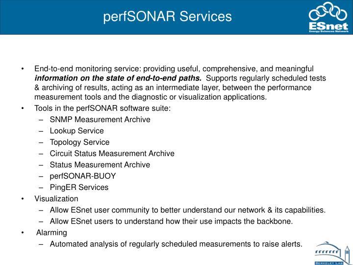 perfSONAR Services