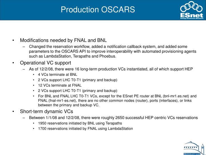 Production OSCARS