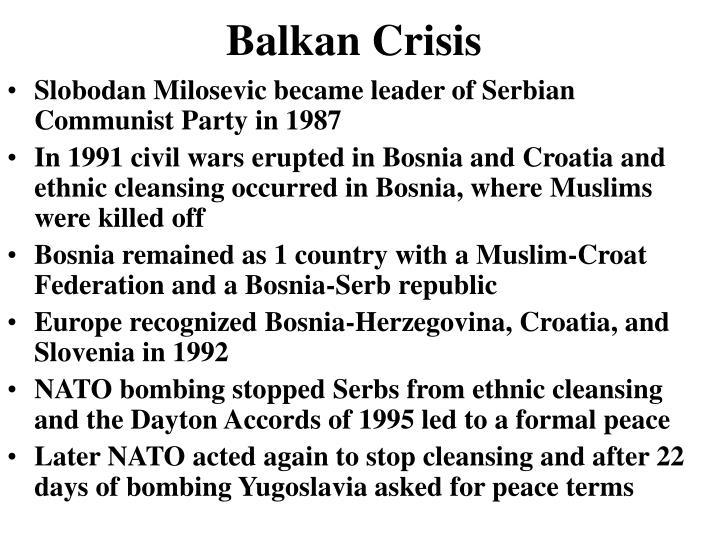 Balkan Crisis