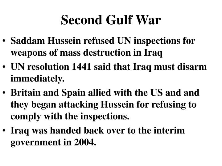 Second Gulf War