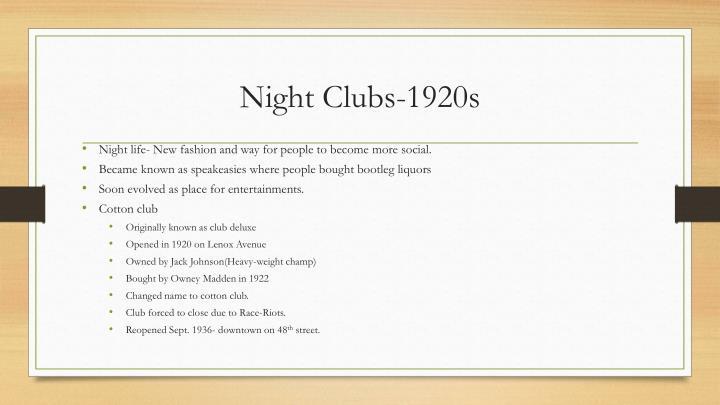 Night Clubs-1920s