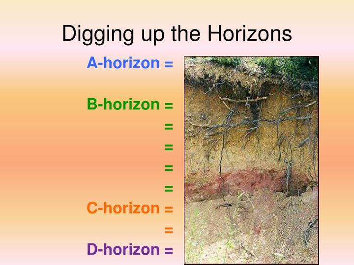 Digging up the Horizons