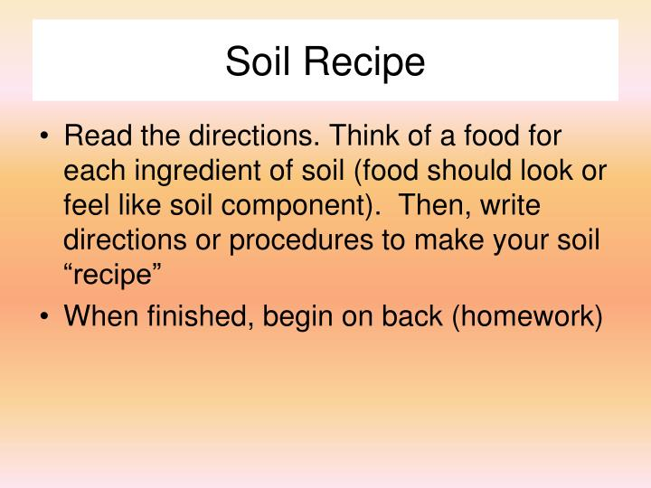 Soil Recipe