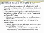 metodo di nelder e mead 6