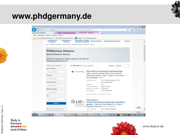 www.phdgermany.de