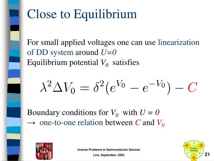 Close to Equilibrium