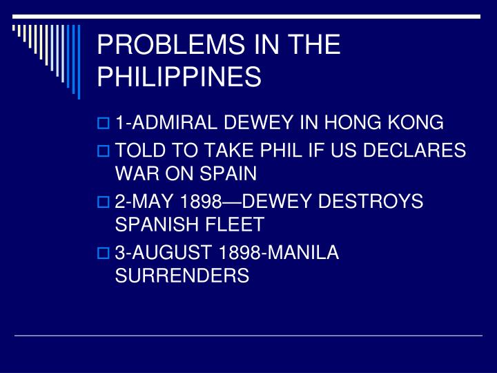 PROBLEMS IN THE PHILIPPINES