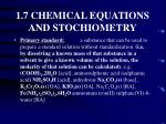 1 7 chemical equations and stochiometry