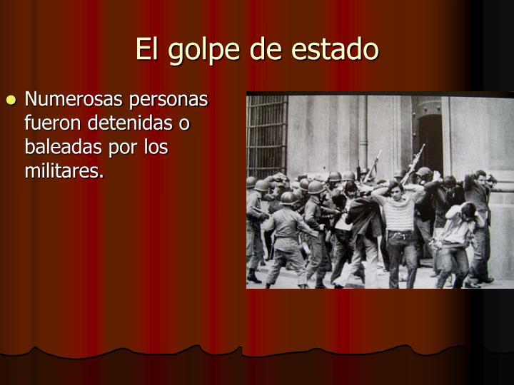 Numerosas personas fueron detenidas o baleadas por los militares.