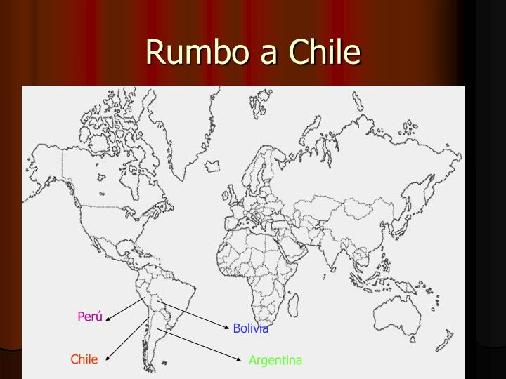Rumbo a chile