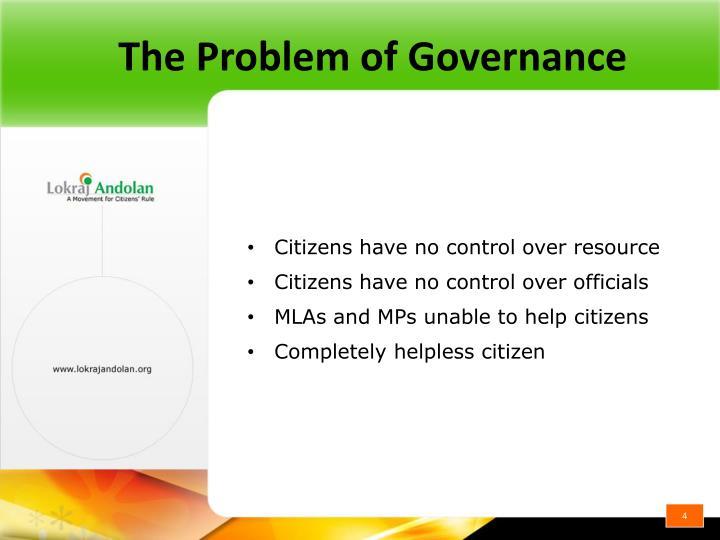 The Problem of Governance