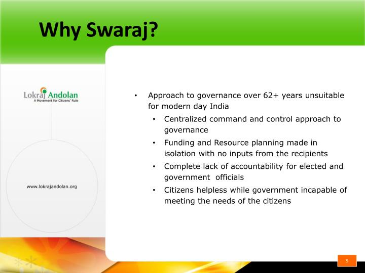 Why Swaraj?