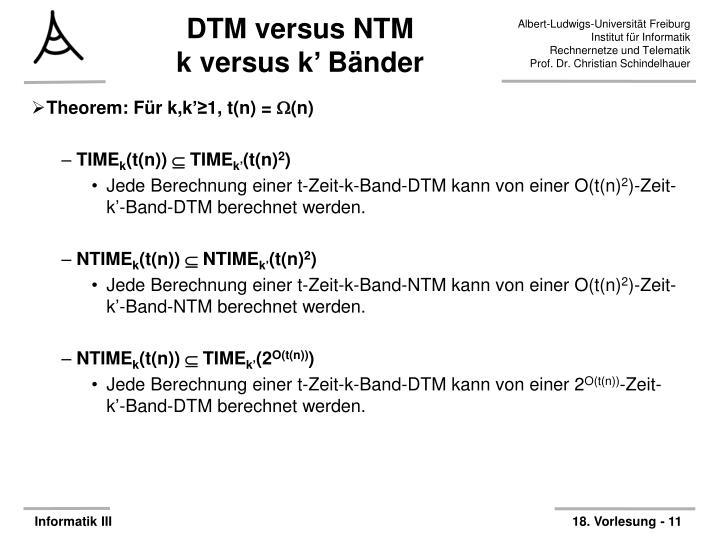 DTM versus NTM
