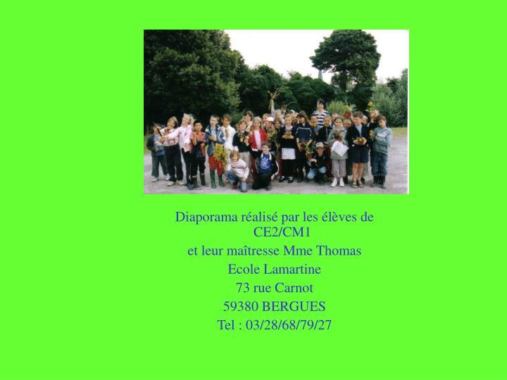 Diaporama réalisé par les élèves de CE2/CM1