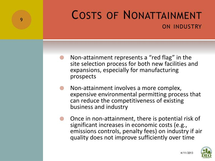 Costs of Nonattainment
