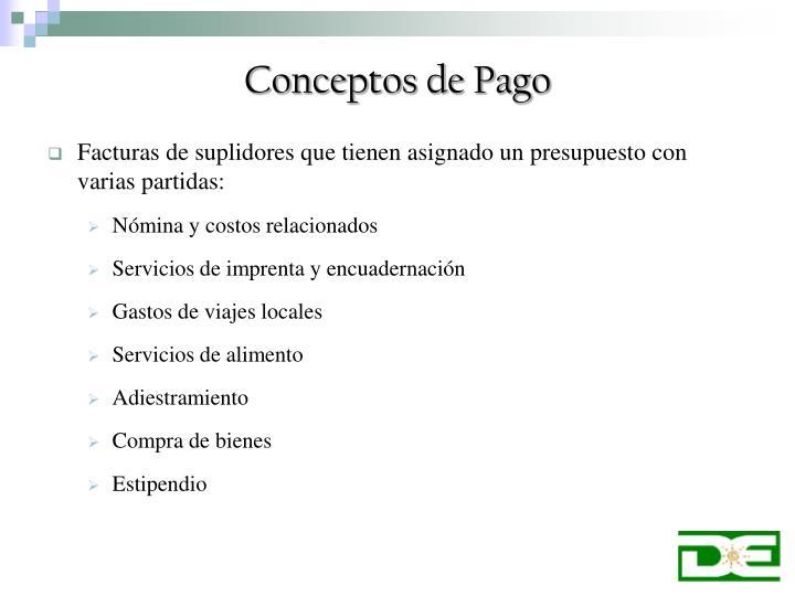 Conceptos de pago