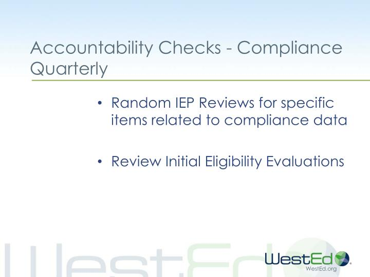 Accountability Checks - Compliance